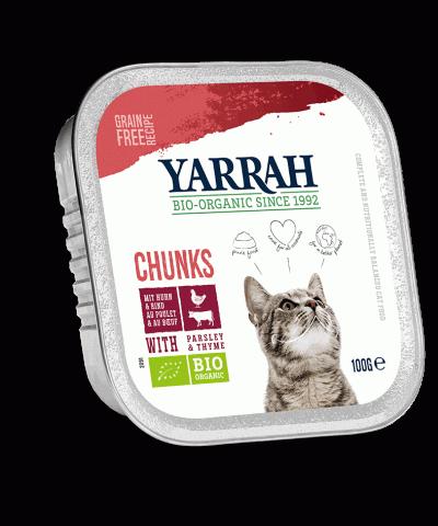 Glutenfreies und getreidefreies Katzenfutter in Schalen