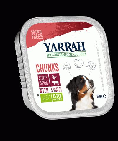 Hundefutter in Aluschalen von Yarrah