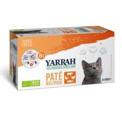 Yarrah Paté Schälchen Bio Menü für Katzen